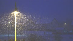 Winter in Germany, snow is falling - stock footage