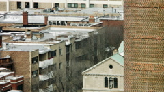 Rooftops of Apartments in Edgewater Stock Footage