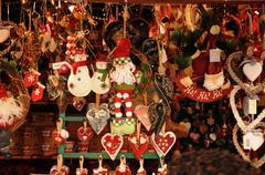 Bas Rhin, Christmas market in Strasbourg Stock Photos