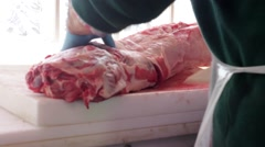 Meat Chopping - stock footage