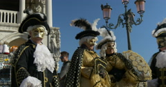 Typical venetian masks Stock Footage