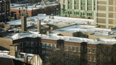 Rooftops in Edgewater Stock Footage