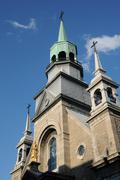 The chapel Notre Dame de Bon Secours in Montreal Stock Photos
