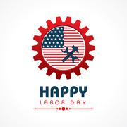 Creative happy labor day greeting stock vector Stock Illustration
