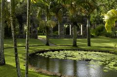 picturesque Habitation Anse Latouche garden in Martinique - stock photo