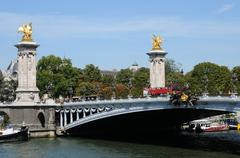 Alexandre 3 bridge in Paris - stock photo