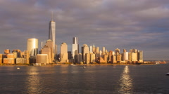 New York - Time lapse - One World Trade Center and Downtown Manhattan Stock Footage