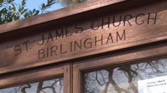 Stock Video Footage of Birlingham Churchyard