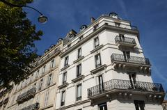 France, building in Marceau avenue in Paris - stock photo