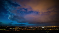 Sunset timelapse over the city of Fort Collins Stock Footage
