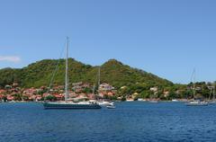 France, the archipelago of Les Saintesin caribbean sea - stock photo