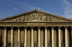 Paris, Palais Bourbon, French parliament - stock photo