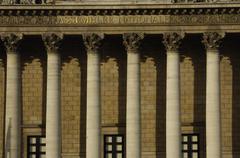 Paris, Palais Bourbon, French parliament - stock photo