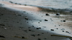 Small waves on the shore Stock Footage