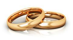 Golden wedding rings Stock Illustration