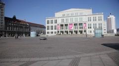 Augustus Platz, Leipzig Stock Footage