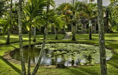 France, the picturesque Habitation Anse Latouche garden in Marti - stock photo