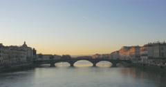 FLORENCE BRIDGE - Ponte alla Carraia Stock Footage