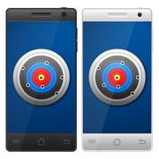 Smartphone target Stock Illustration