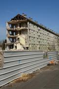 France, demolition of an old building in Les mureaux - stock photo