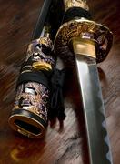 Japanese Samurai Sword. Stock Photos