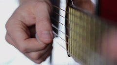 Guitar playing with the pick Stock Footage