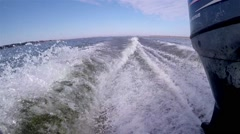 Wake Of  Fast Motorboat POV Stock Footage
