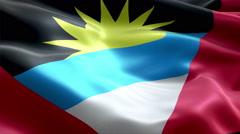Flag Antigua and Barbuda - stock footage