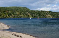 Quebec, the seaside of Tadoussac - stock photo