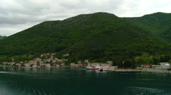 Kotor - Small Village Kotor Bay Fjord Stock Footage