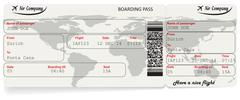 Vector image of airline boarding pass ticket Stock Illustration