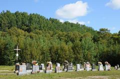 Canada, Quebec, the cemetery of Tadoussac Stock Photos