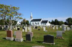 Quebec, the Saint Andrewl church of Richmond - stock photo