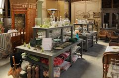 Antique shop in France Stock Photos