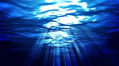 Beautiful marine Background. Underwater scene with light rays. HD 1080 - stock footage