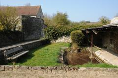 the old wash house of Condecourt - stock photo