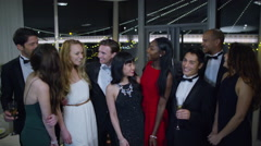 4K Portrait of attractive mixed ethnicity group of friends at glamorous party Arkistovideo