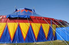 France, a colorful circus tent - stock photo