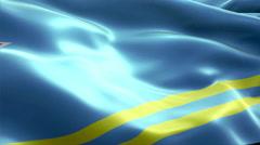Flag Aruba - stock footage