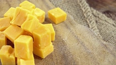 Portion of Cheddar (not loopable) - stock footage