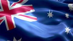 Flag Ashmore and Cartier Islands Stock Footage