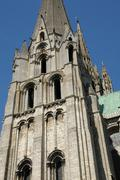 Stock Photo of France, the cathedral of Chartres in Eure et Loir
