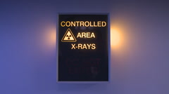 Controlled Area Xray Sign Stock Footage
