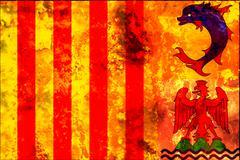 old flag of - stock illustration