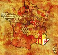 Provence-Alpes-Côte d'Azur - stock illustration