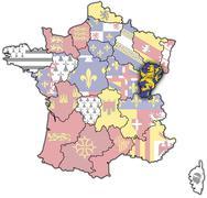 Franche-Comte - stock illustration