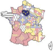 Ile-de-France - stock illustration