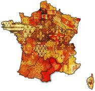 Languedoc-Roussillon Stock Illustration