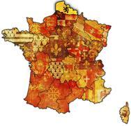 Nord-Pas-de-Calais - stock illustration