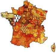 Pays de la Loire - stock illustration